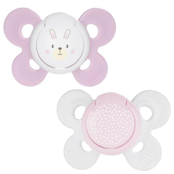 Пустышка Chicco Physio Comfort, силикон, 0-6 мес., 2 шт., арт. 74931, цвет Розовый