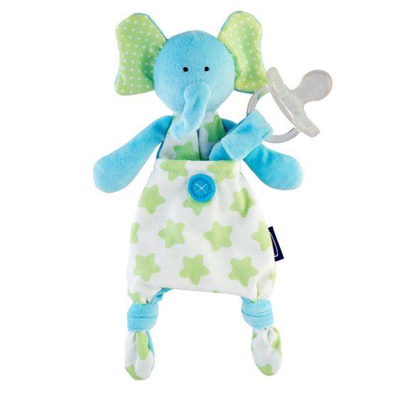 Игрушка с клипсой для пустышки Chicco Elephant, арт. 08013.20, цвет Голубой