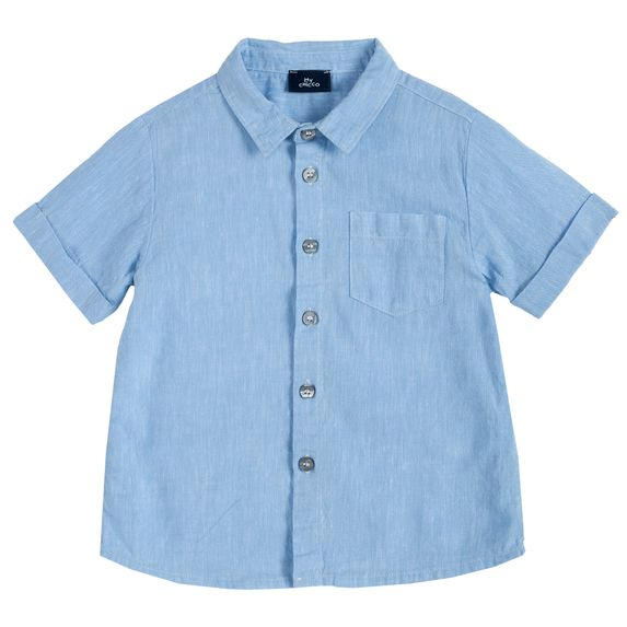 Рубашка Chicco Wild tiger, арт. 090.66522.021, цвет Голубой