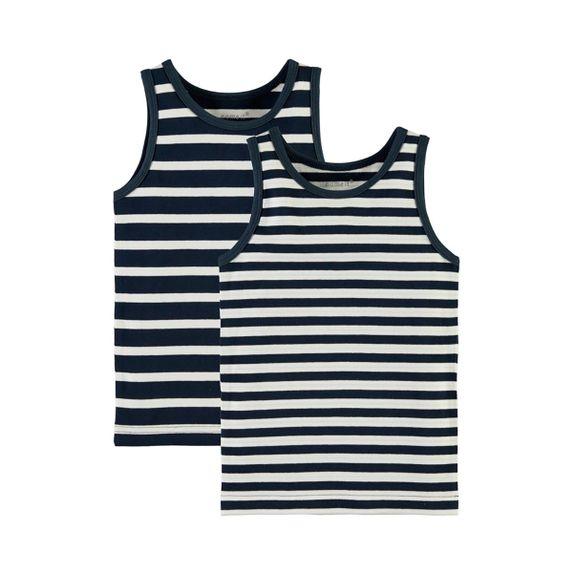 Майка (2шт) Name it Stripes, арт. 13145767.DBLU, цвет Синий