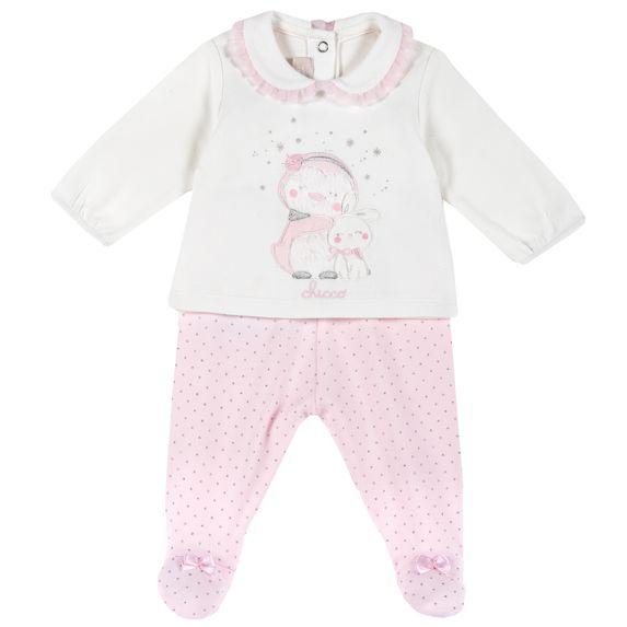 Костюм Chicco Happy friends: рубашка и ползунки, арт. 090.76561.011, цвет Розовый