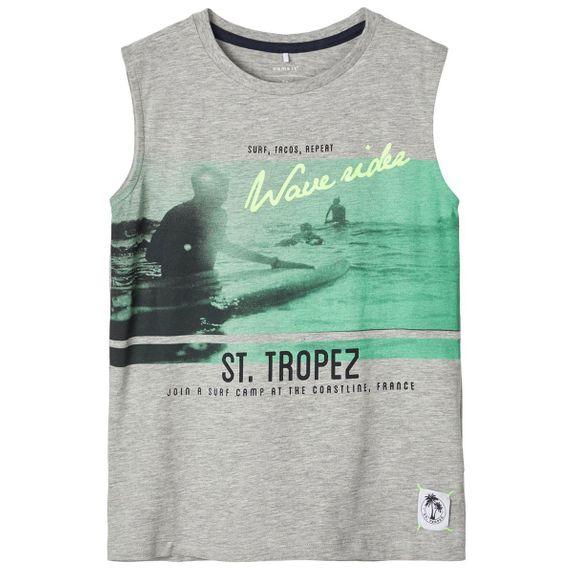 Майка Name it St.Tropez, арт. 201.13174980.GMEL, цвет Серый