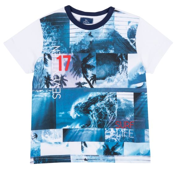 Футболка Chicco Seventeen, арт. 090.68175.033, цвет Синий с белым