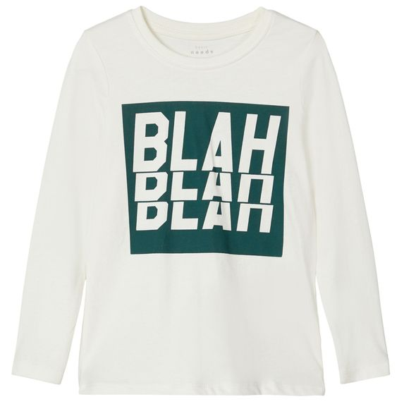 Реглан Name it Blah blah blah, арт. 203.13179187.SWHI, цвет Белый