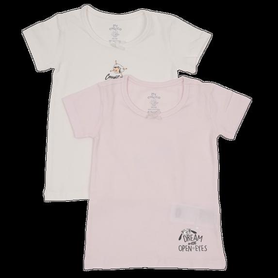 Футболка Chicco Count the sheep (2 шт), арт. 090.11468.030, цвет Розовый