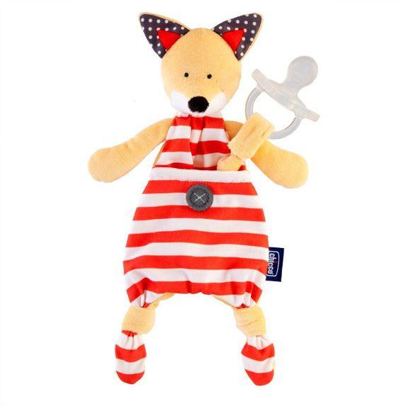 Игрушка с клипсой для пустышки Chicco Fox, арт. 08013.10, цвет Красный