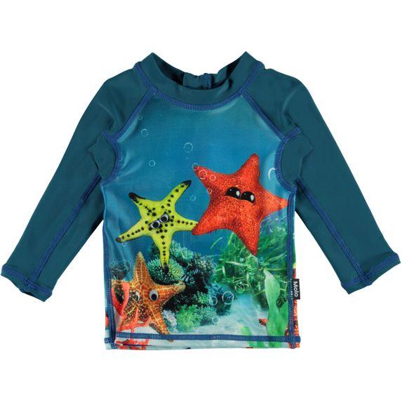 Футболка (рашгард) для купания Molo Nemo Moody Stars, арт. 8S20P203.7101, цвет Бирюзовый