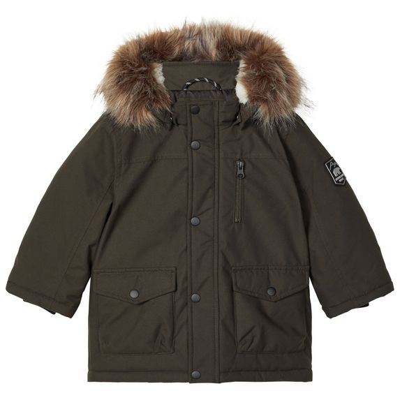 Куртка-парка Name it Noah, арт. 203.13178867.ROSI, цвет Зеленый