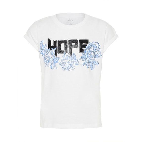 Футболка Name it Hope (белая), арт. 13161277.BWHI, цвет Белый