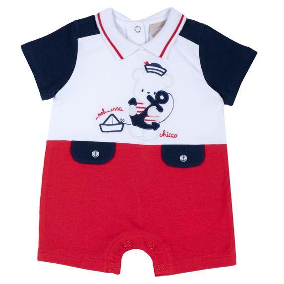 Полукомбинезон Chicco Little sailor, арт. 090.50831.071, цвет Красный с синим