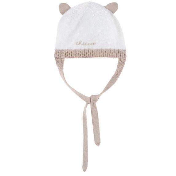 Шапка Chicco White smart bear, арт. 090.04689.030, цвет Белый