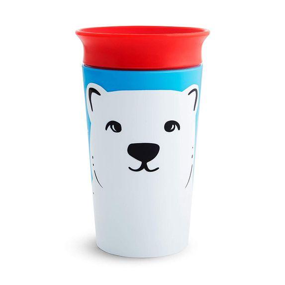 "Чашка непроливная Munchkin ""Miracle 360 WildLove"", 266 мл, арт. 05177, цвет Красный"