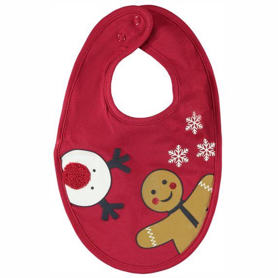 Слюнявчик  Name it Christmas, арт. 203.13185766.JRED, цвет Красный