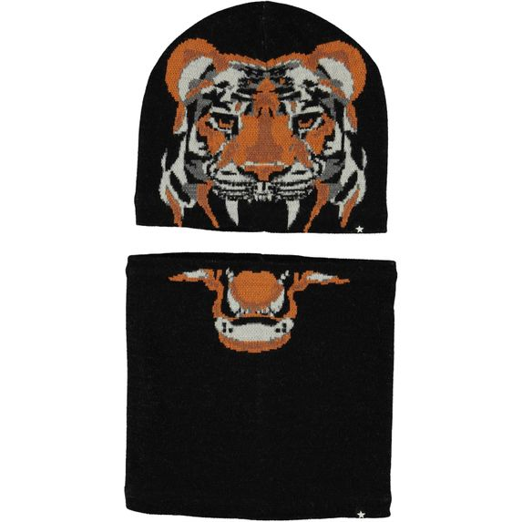 Комплект Molo Kleo Black: шапка и шарф, арт. 7W20S310.0099, цвет Черный