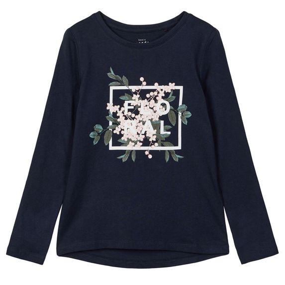 Реглан Name it Floral, арт. 203.13179132.DSAP, цвет Синий
