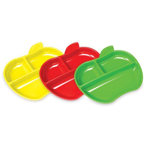 "Набор тарелок Munchkin ""Lil` Apple"", 3 шт., арт. 012102, цвет Разноцветный"
