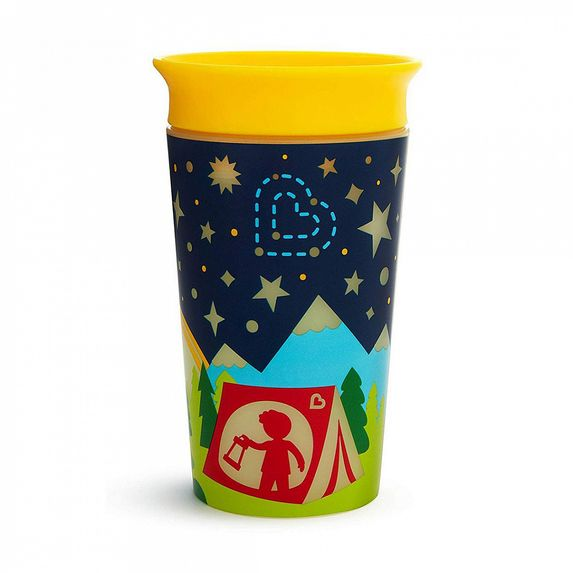 "Чашка непроливная Munchkin ""Miracle 360 Glow in the Dark"", 266 мл, арт. 21193, цвет Желтый"