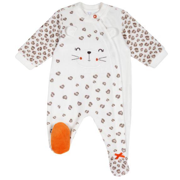Комбинезон велюровый Chicco Happy leopard, арт. 090.21563.060, цвет Бежевый