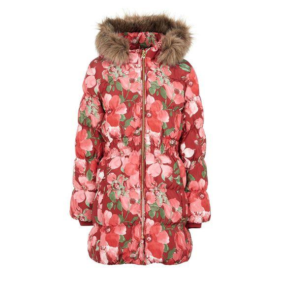 Куртка пуховая Name it Flower heart, арт. 193.13167590.BRED, цвет Красный