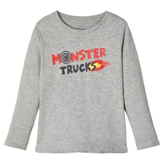 Реглан Name it Monster trucks, арт. 201.13171457.GMEL, цвет Серый
