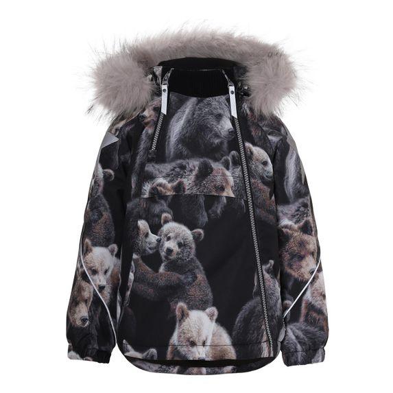 Термокуртка Molo Hopla Fur Teddy, арт. 5W20M304.6135, цвет Черный