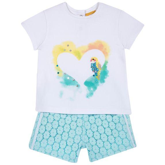 Костюм Chicco Soft: футболка и шорты, арт. 090.76483.021, цвет Бирюзовый
