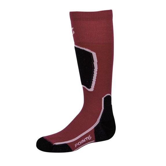Термоноски Point6 Ski Ligh Red, арт. 4129-605.203, цвет Красный