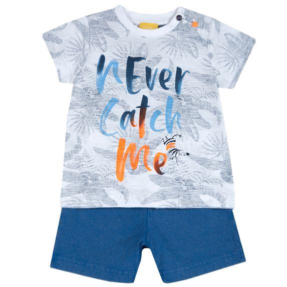 Костюм Chicco Run: футболка и шорты, арт. 090.76485.033, цвет Голубой с белым
