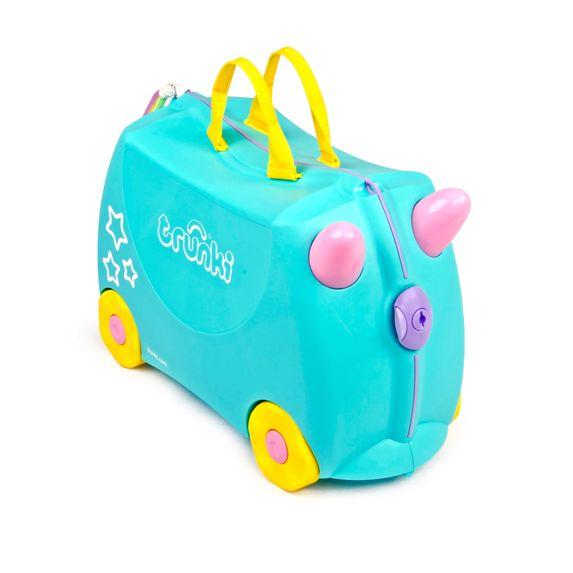 "Детский чемодан Trunki ""Una the Unicorn"", арт. 0287-GB01-UKV, цвет Голубой"