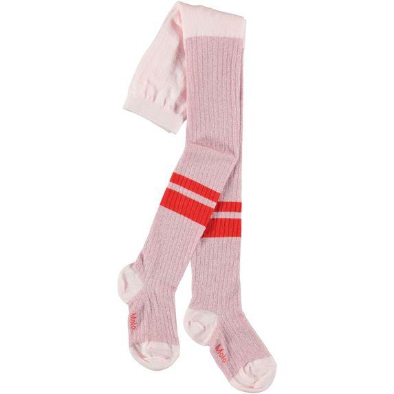 Колготы Molo Sporty Rib Tights Chalk Pink, арт. 7W19G206.8049, цвет Розовый