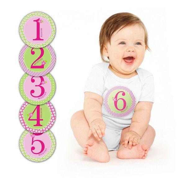 """Подарочный набор наклеек """"Первый год"""" (розовый), арт. 60031, цвет Розовый"""