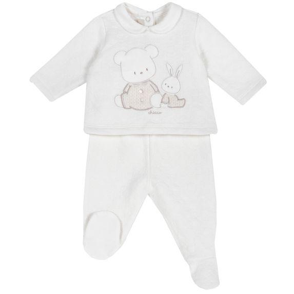 Костюм Chicco First friends: рубашка и ползунки, арт. 090.76557.030, цвет Белый