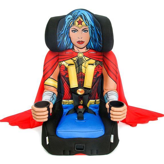 Автокресло KidsEmbrace DC Comics Wonder Woman, группа 1/2/3, арт. 3001WWMUKR, цвет Красный