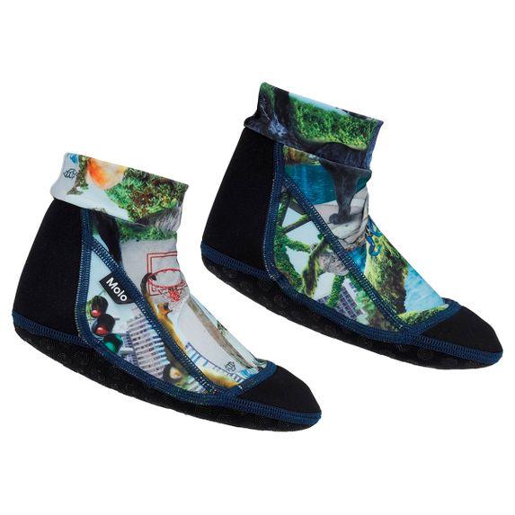 Носки-аквашузы для плавания Molo Zabi Urban Jungle, арт. 7S20U301.6037, цвет Зеленый