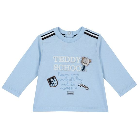 Реглан Chicco Teddy school, арт. 090.06780.021, цвет Голубой