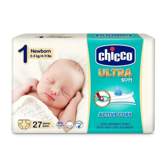 Подгузники Chicco Ultra Soft Newborn, 2-5 кг, 27 шт., арт. 08380
