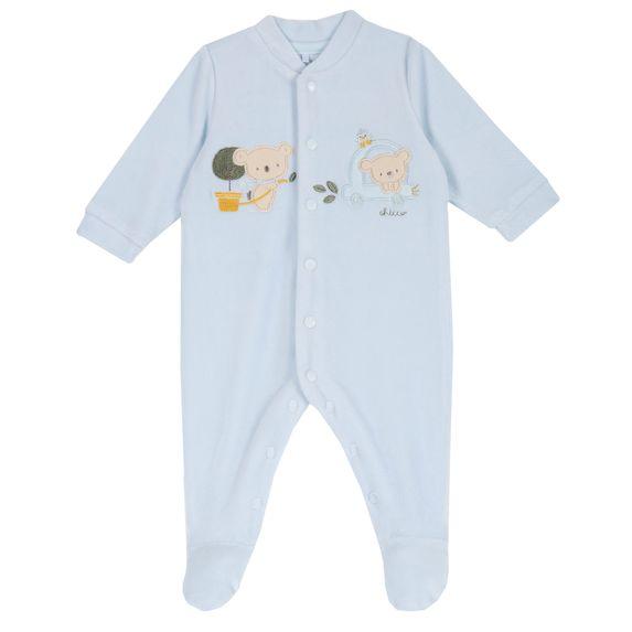 Комбинезон велюровый Chicco Baby koala, арт. 090.02036.021, цвет Голубой
