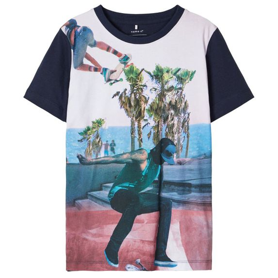 Футболка Name it Skateboarding (синяя), арт. 201.13174798.DSAP, цвет Синий