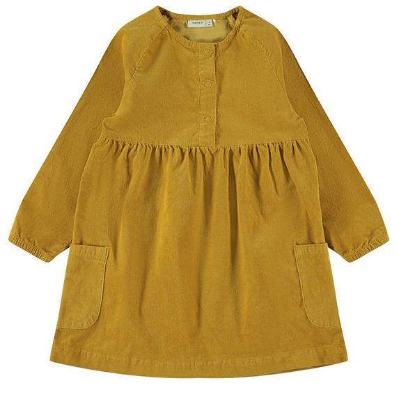 Платье Name it Maila, арт. 203.13182108.AGOL, цвет Горчичный