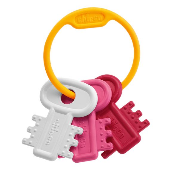 "Игрушка-грызун Chicco ""Мягкие ключики"", арт. 63216, цвет Розовый"
