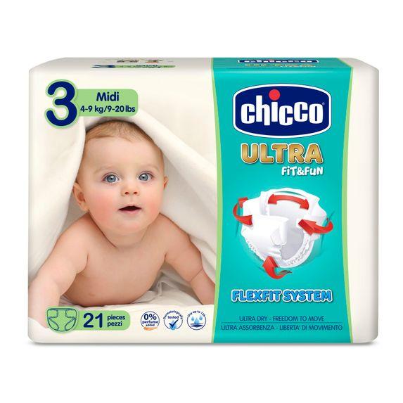 Подгузники Chicco Ultra Soft Fit&Fun Midi, 4-9 кг, 21 шт., арт. 08382.00