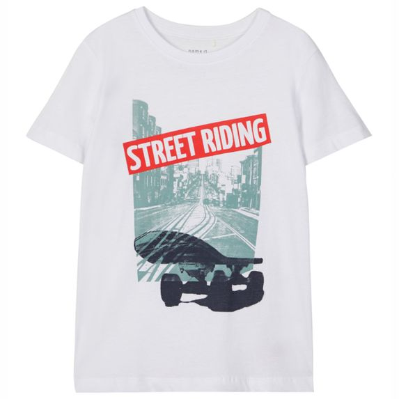 Футболка Name it Street riding, арт. 203.13180306.BWHI, цвет Белый