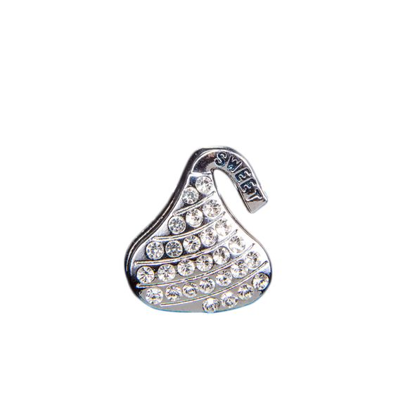 "Эмодзи Tinto ""Silver plated kiss"", арт. AC2241.1, цвет Серебряный"