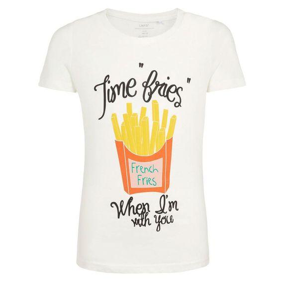 Футболка Name it Time fries, арт. 201.13168803.SWHI2, цвет Белый