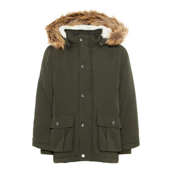 Куртка-парка Name it Jason (зеленая), арт. 193.13167910.ROSI, цвет Оливковый