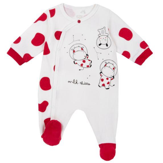 Комбинезон велюровый Chicco Planet Mommy, арт. 090.21571.030, цвет Белый с красным