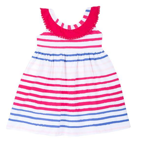 Платье Chicco Sunshine, арт. 090.03701.016, цвет Белый с малиновым