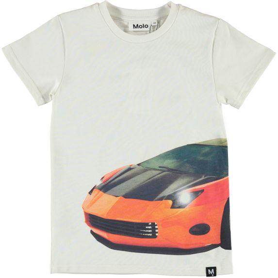 Футболка Molo Raven Patchwork Car Big, арт. 1S20A218.7154, цвет Белый