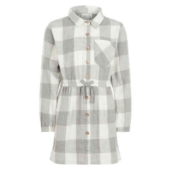 Платье-рубашка Name it Lovely Emilie, арт. 201.13169268.GMEL, цвет Серый