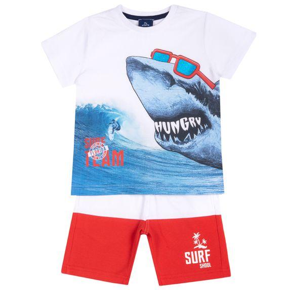 Костюм Chicco Surf team: футболка и шорты, арт. 090.76535.033, цвет Красный с белым